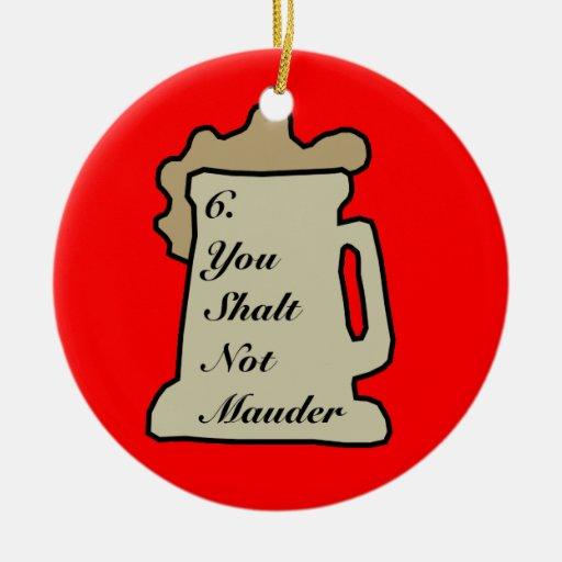 6to Mandamiento del ornamento de la cerveza Ornaments Para Arbol De Navidad