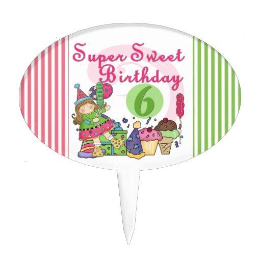 6to primero de la torta de cumpleaños del dulce es figuras de tarta
