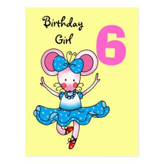6to regalo de cumpleaños para un chica, bailarina tarjetas postales
