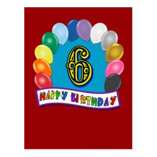 6to Regalos de cumpleaños con diseño clasificado d Tarjetas Postales