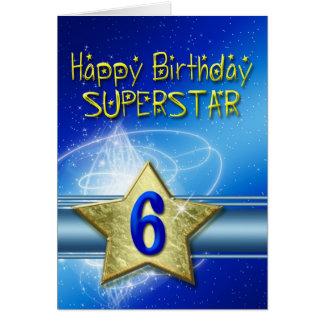 6to Tarjeta de cumpleaños para la superestrella