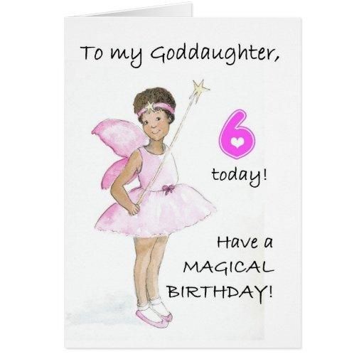 6to Tarjeta de cumpleaños para una ahijada