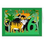 6to Tarjeta de cumpleaños - tigre