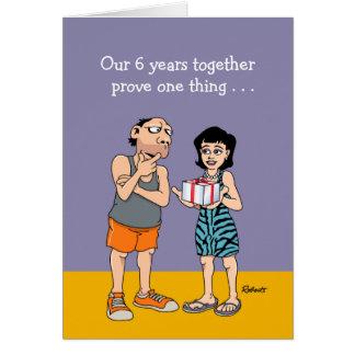 6to Tarjeta del aniversario: Amor