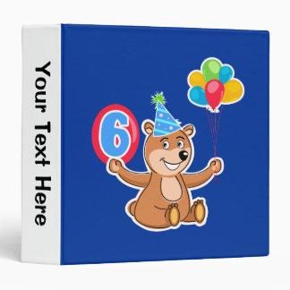 "6to Tema del oso del cumpleaños Carpeta 1 1/2"""