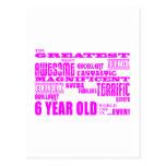 6tos cumpleaños de los chicas: 6 años más grandes postal