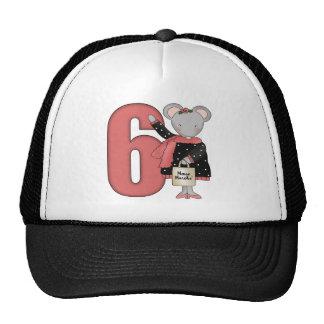 6tos regalos de cumpleaños del pequeño ratón gorros bordados