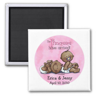 6x6-aa-twins-PRINCESSESarrived Magnet