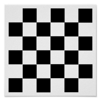 "6x6 Checkers TAG Board (1-1/4"" fridge magnets) Poster"