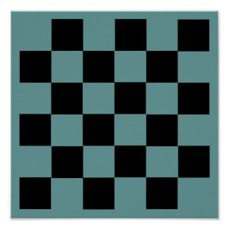 "6x6 Checkers TAG Board (1-1/4"" fridge magnets) Posters"