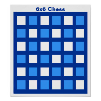 """6x6 - Chess TAG Grid (1-1/4"""" fridge magnets) Poster"""