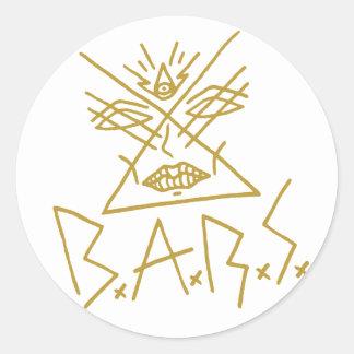"""6x B.A.R.S. Gold Face Sticker 3"""""""