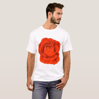 6x Plus Size Red Rose Flower Shirt