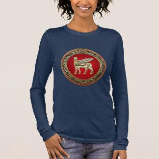 [700] Babylonian Winged Bull Lamassu [3D] Long Sleeve T-Shirt