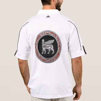 [700] Babylonian Winged Bull [Silver] [3D] Polo T-shirt