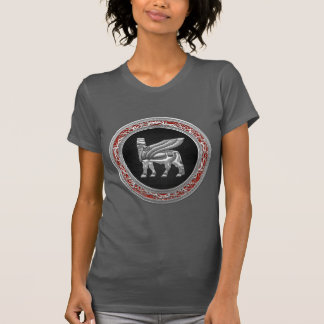 [700] Babylonian Winged Bull [Silver] [3D] T-shirt