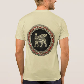 [700] Babylonian Winged Bull [Silver] [3D] Tee Shirt