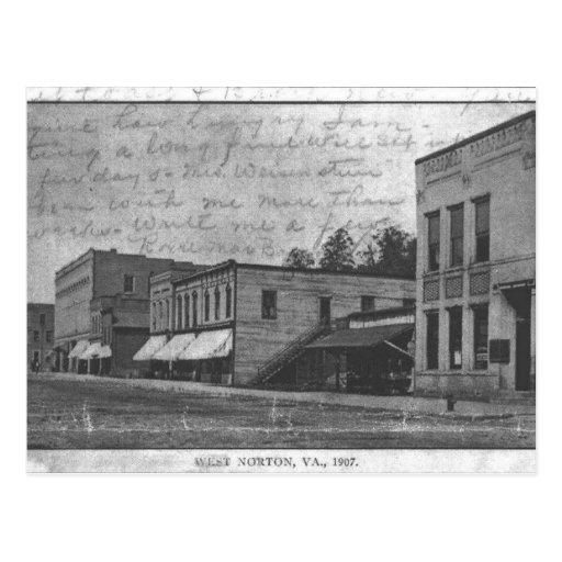 700 block of Norton, Virginia in 1907. Postcard