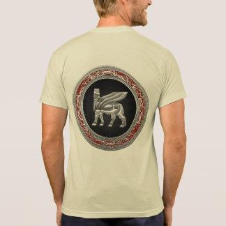 [700] Bull coa alas babilónico [plata] [3D] Camisetas