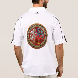 [700] Celtic Treasures - Three Dogs on Gold Polo T-shirt