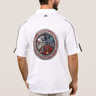 [700] Celtic Treasures - Three Dogs on Silver Polo