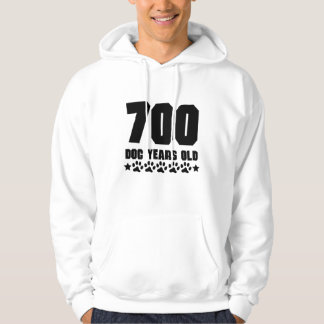 700 Dog Years Old Funny 100th Birthday Hoodie