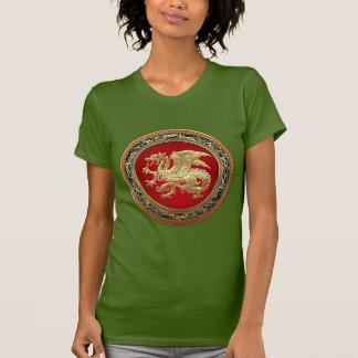 [700] Icelandic Dragon, Landvættir [Gold] T-Shirt