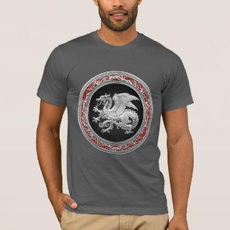 [700] Icelandic Dragon, Landvættir [Silver] T-Shirt