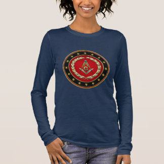 [700] Masonic Square and Compasses [3rd Degree] Long Sleeve T-Shirt