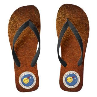[700] NASA Emblem [3D] Flip Flops