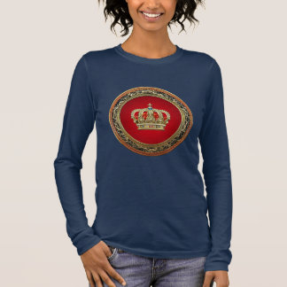 [700] Prince-Princess King-Queen Crown [Belg.Gold] Long Sleeve T-Shirt