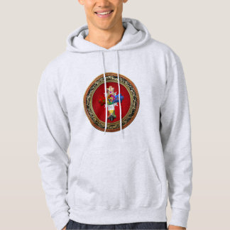 [700] Rosy Cross (Rose Croix) on Red & Gold Hoodie