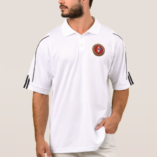 [700] Rosy Cross (Rose Croix) on Red & Gold Polo Shirt