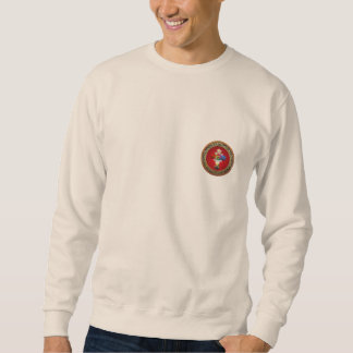 [700] Rosy Cross (Rose Croix) on Red & Gold Pullover Sweatshirt