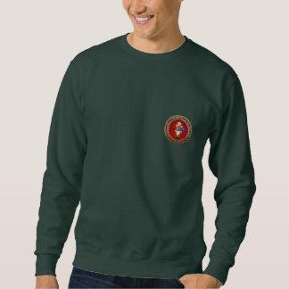 [700] Rosy Cross (Rose Croix) on Red & Gold Sweatshirt
