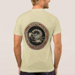 [700] Sacred Silver Scorpion on Black T-Shirt