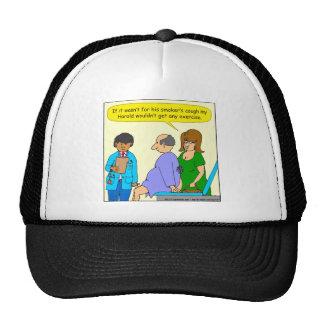700 smokers cough cartoon trucker hat