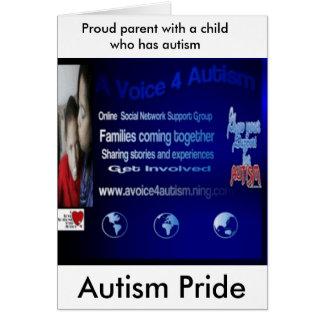 700x700ningbig, Autism Pride, Proud parent with... Card