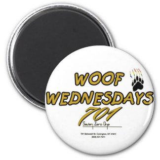 701 WOOF WEDNESDAY 2 INCH ROUND MAGNET