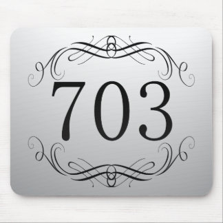 703 Area Code Mouse Pad