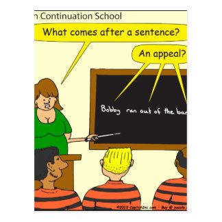 703 comes after a sentance cartoon postcard