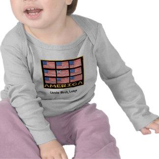 704 Flag 9 flags T-shirt