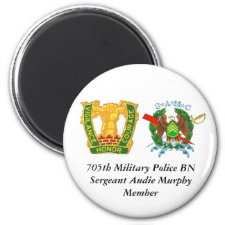 705th, CREST[1], 705th Military Police BNSergea... 2 Inch Round Magnet