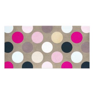 7096_polka-dots-44-pink-brown POLKA DOTS HOT PINK Card