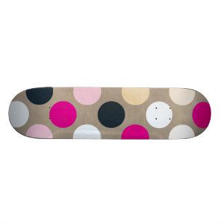 7096_polka-dots-44-pink-brown POLKA DOTS HOT PINK Skate Board Decks