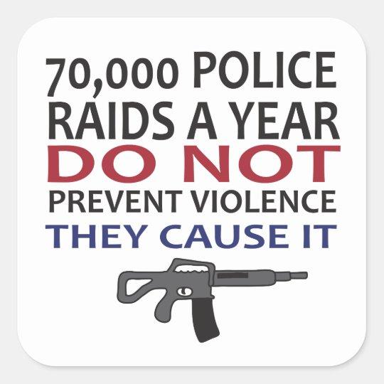 70,000 Police Raids a Year... Square Sticker
