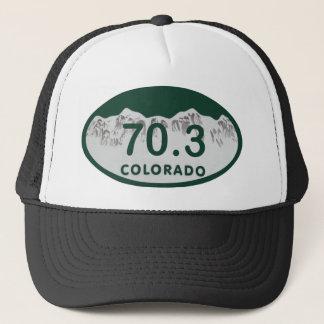 70.3 license oval trucker hat