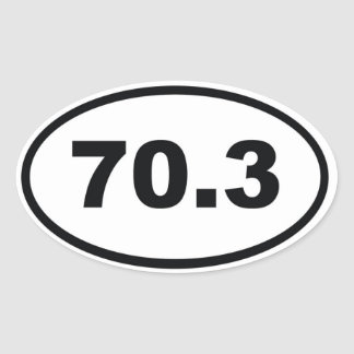 70.3 miles Half Triathlon Oval Sticker
