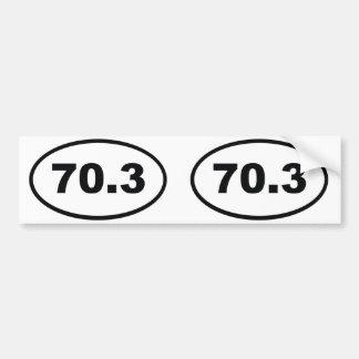 70,3 millas de medio Triathlon Etiqueta De Parachoque