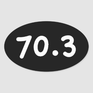 70.3 OVAL STICKER